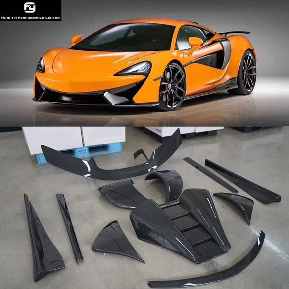 540 C 570 GT Carbon fiber front lip rear diffuser side skirts rear spoiler engine cover for McLaren 540C 570S 570GT Novitec