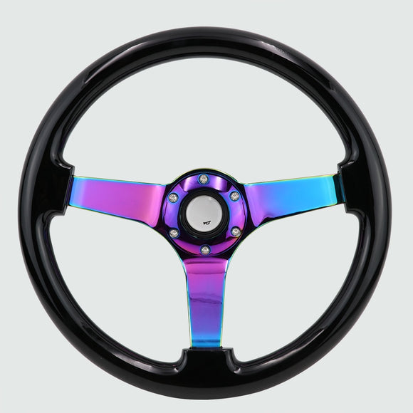 Lollipop Steering Wheel Black Neo Chrome