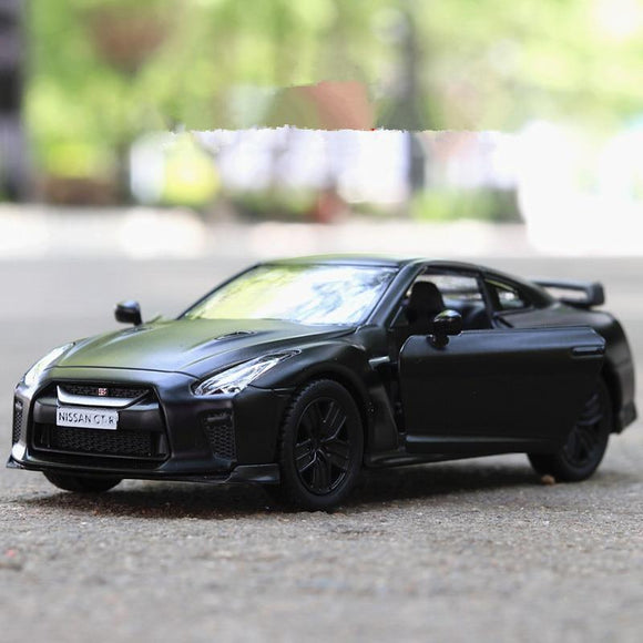 1:36 scale high imitation alloy model car,matte Nissan GTR pull back retro car toy,2 open door toy vehicle,free shipping