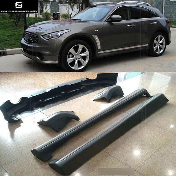 FX35 PP unpainted front bumper lip rear bumper parts side skirts For Infiniti FX35 car body kit 2009-2014