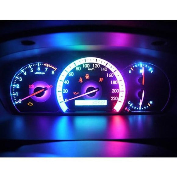 10pcs colorful Led T5 Lamp Car Gauge Dash Bulb Dashboard Light