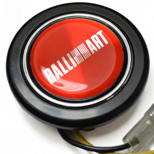Red Ralliart Aftermarket Horn Button