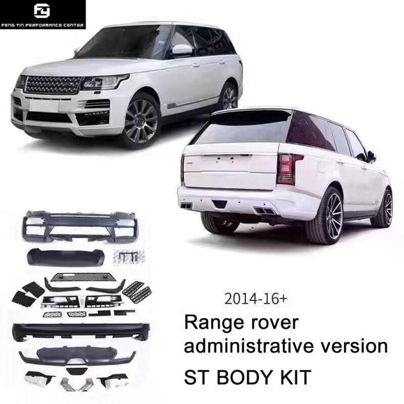 ST style PP Unpainted front bumper rear bumper for Land Rover Range Rover STARTECH Car body kit 14-16