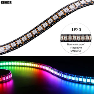 LED Strip Light Smart LED pixel Colorful Rainbow Waterproof IP67 Non-waterproof IP20 DC5V WS2812B WS2812 - 5050 RGB 144LEDs/M