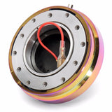 Universal 1.5 Inch Steering Wheel Quick Release Hub Adapter Snap Off Boss kit Neo Chrome Steering Wheel 6 Bolt Hub