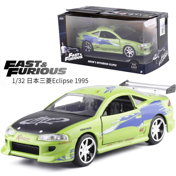 1:32 Jada Classical Fast & Furious1995 Mitsubishi Eclipse Metal Alloy Diecast Model Car Toy For Kids Birthday Gifts Collection