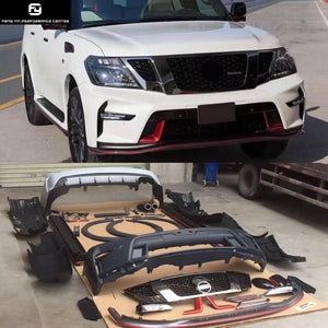 Car Body Kits >> Y62 Pp Unpainted Car Body Kit Front Rear Bumper Side Skirts For Nissan Patrol Y62 Nismo Style 12 17
