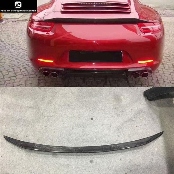 911 991.1 991.2 Carbon fiber rear spoiler wings for Porsche 911 Carrera 991 GT3 Vorsteiner style 12-15