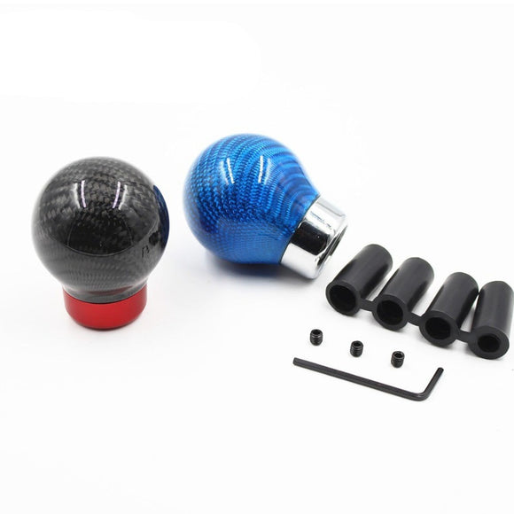 Universal Real Carbon Fiber Gear Shift Knob Manual/Automatic Transmission Aluminum Gear knob For Honda VW BMW Golf Mk3