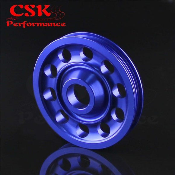 Aluminum Crank Pulley Light Weight for EK9 Integra DC2 Type R CTR BLUE