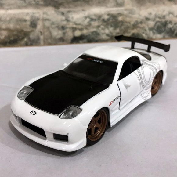 Brand New JADA JDM 1/32 Scale Car Model Toys JAPAN 1993 MAZDA RX7 Diecast Metal Car Model Toy For Gift/Kids/Collection