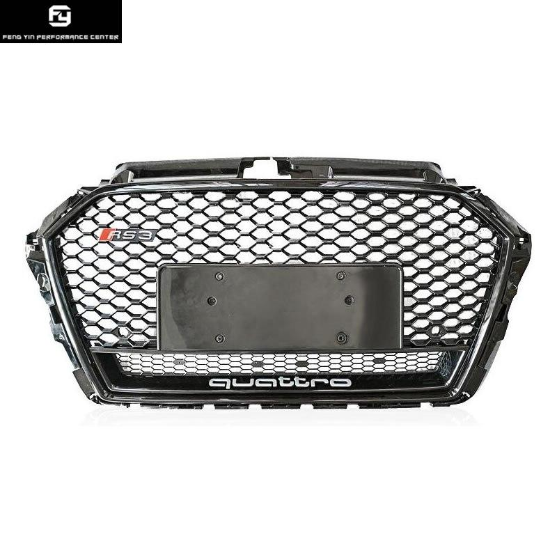 A3 Rs3 Style Racing Grills Abs Honeycomb Grille For Audi ...