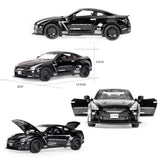 1:32  Nissan GTR Alloy Diecast Model Mini Car Sound Light Pull back Gliding Race Car Toy Disassembly Assembly Classic Cars
