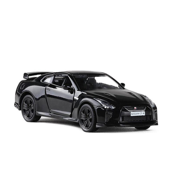 3 Colors 1:36 Diecast Model Car High Simulation Supercar Scale Alloy Pull Back Nissan GTR R35 Cars  Model Toys V007