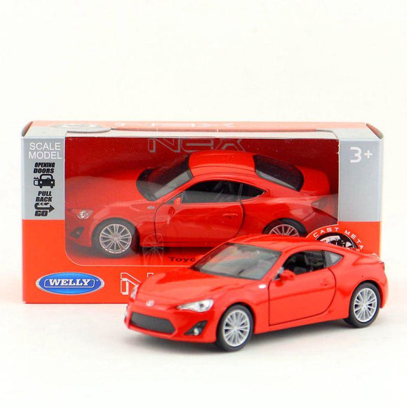 5pcs/lot Wholesale WELLY 1/36 Scale Car Model Toys TOYOTA 86 Diecast Metal Pull Back Car Toy