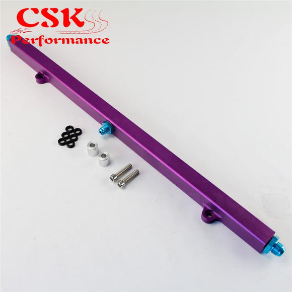 Upgrade High Flow Fuel Rail Kit Fits For Nissan Prtrol 4.8L Machined Purple