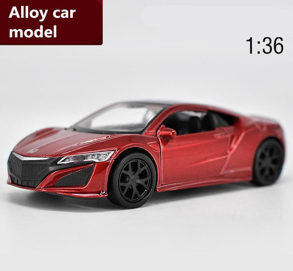 1:36 scale Honda Acura NSX alloy pull back car toy,high simulation diecast metal model,2 open doors toy vehicle,free shipping