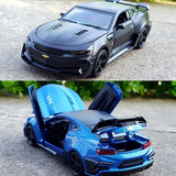 1/32 Chevrolet Camaro Alloy Model Car Acousto-optic Pull Back with Pedestal
