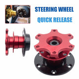 Universal Aluminum Car Steering Wheel Quick Release Hub Adapter Snap Off Boss kit Fits any 6 Hole 70mm hole Hub steering wheels