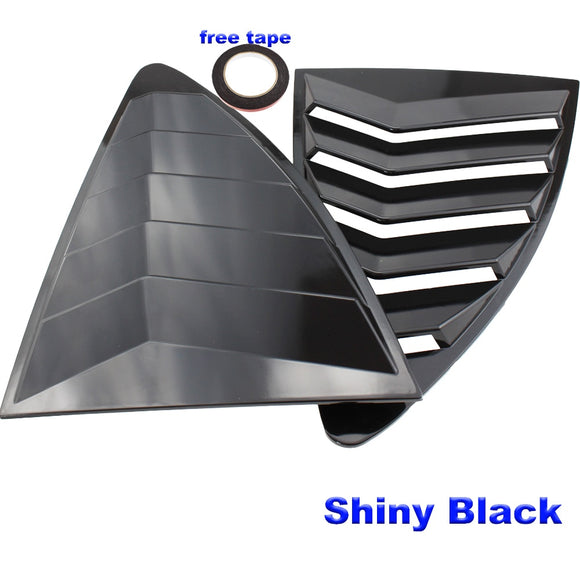 Rear Quarter Window Louvers Spoiler Panel SHINNY BLACK for Scion FRS for Subaru BRZ for Toyota 86 GT86