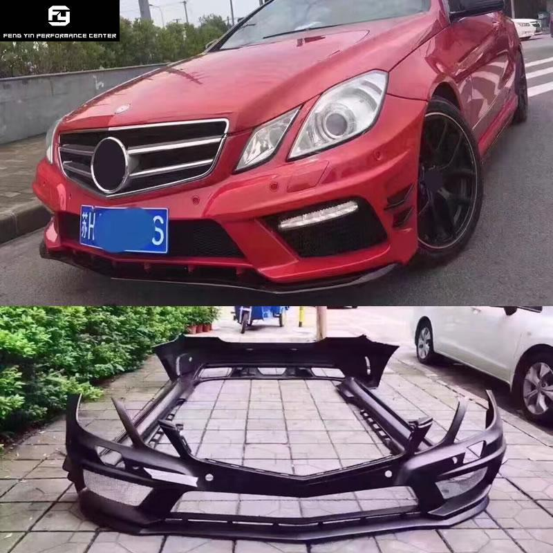 W207 C207 E260 Coupe FRP Unpainted front Rear bumper side skirts for  Mercedes Benz W207 E350 PriorDesign style car body kit