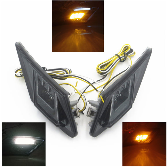 Toyota FT86/GT86/Scion FR-S Smoke Front Bumper Side Marker Lights Lamps Turn Signal Running Light