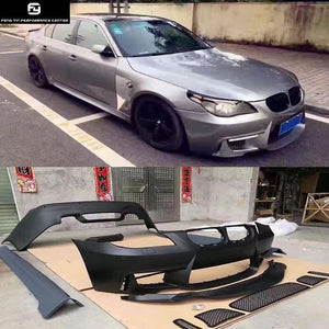 E60 5 series 1M Style Car body kit PP Unpainted Front bumper Rear bumper  side skirts for BMW E60 525i 05-10