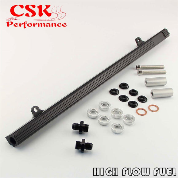 Upgrade Top Feed Fuel Injector Rail Fits For Nissan Skyline R32 R33 RB25DET GTS Black/Purple