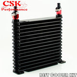 8-AN-32MM-15-ROW-ENGINE-TRANSMISSION-RACING-COATED-ALUMINUM-OIL-COOLER-Fitting