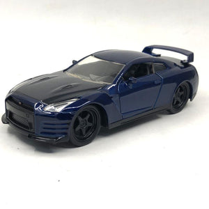 5pcs/lot Wholesale JADA 1/32 Scale Car Model Toys NISSAN GTR R35 Diecast Metal Car Model Toy