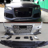 A7 RS7 car body kit PP Unpainted Auto Front Bumper rear diffuser side skirts racing grills for Audi A7 RS7 2013UP
