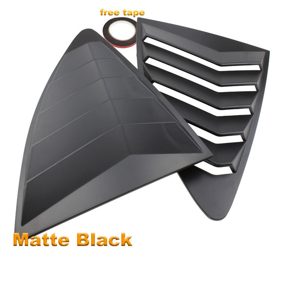 Rear Quarter Window Louvers Spoiler Panel MATT BLACK for Scion FRS for Subaru BRZ for Toyota 86 GT86