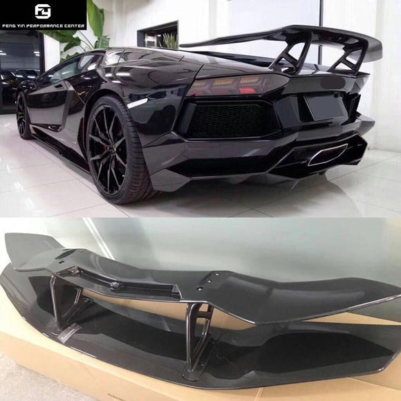 Hot sell LP700 Carbon Fiber Rear Spoiler Wings for Lamborghini Aventador LP700 DMC style 2015