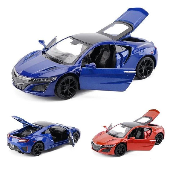 Promotion price 1:32 Scale Honda Acura NSX Metal Alloy Diecast Car Model With Sound Light Model Car Toys For Kids Gifts