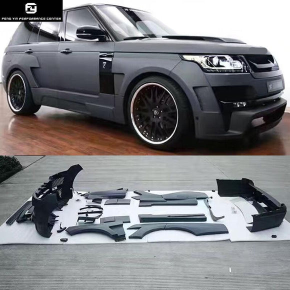 Wide Car body kit PP front bumper rear bumper Round eyebrows for Land Rover Range Rover Executive Edition HAMANN style