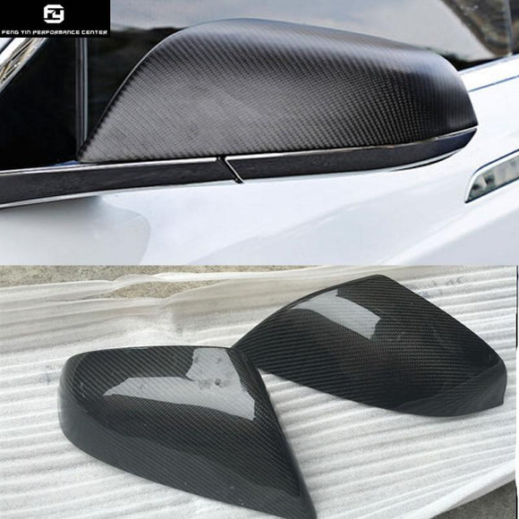 Replacement Model X Carbon Fiber Side Mirror Covers Auto Car Mirror Caps For Tesla MODEL X