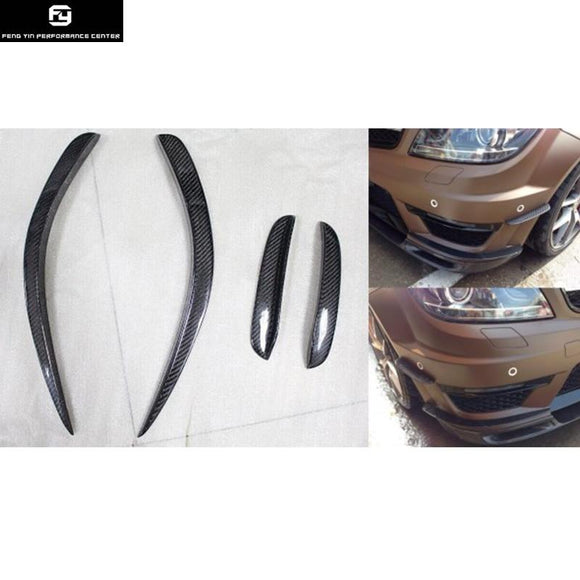 W204 Rear C63 AMG Carbon Fiber Side Fender Air Vents Kit Trim Fender for Mercedes-Benz W204 C63 12-14