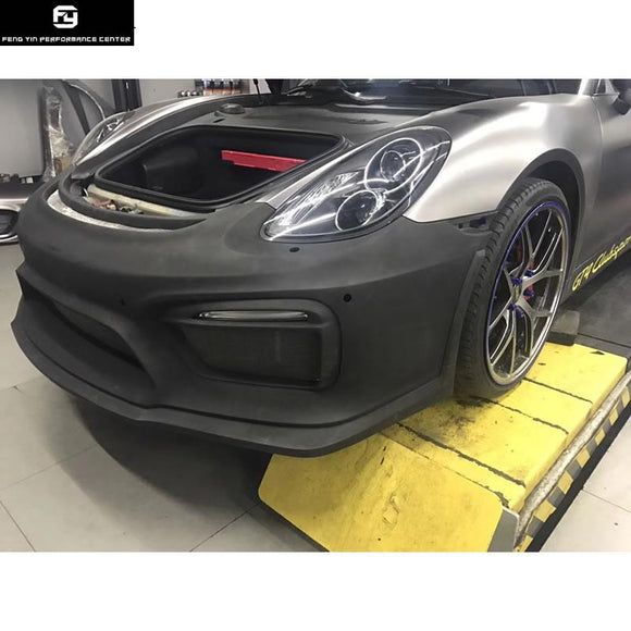 981 GT4 style FRP front bumper for Porsche Boxster Cayman 981 change GT4 Car body kit