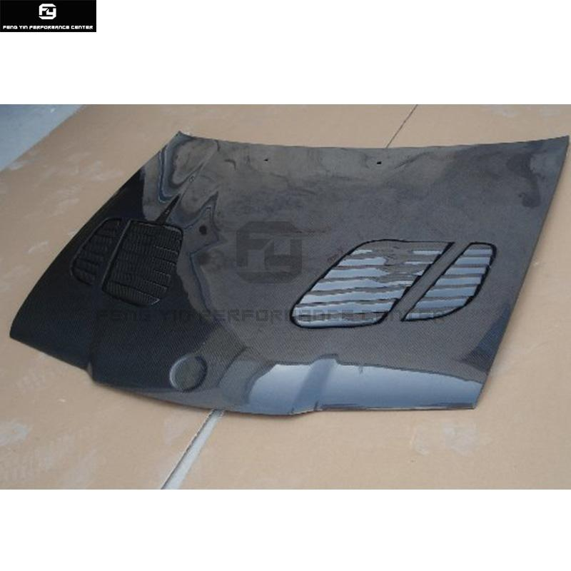 E36 3 Series Coupe M3 Style Carbon Fiber Front Engine Hood Bonnets Engine Covers With Vents For Bmw E36 325i Coupe 92 99