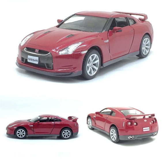 High simulation supercar Kinsmart 1:36 scale alloy pull back Nissan GTR R35 cars 2 open door model toys free shipping