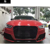 A3 RS3 style Car body kit PP front bumper racing grills rear bumper rear diffuser for Audi A3 RS3 14-16
