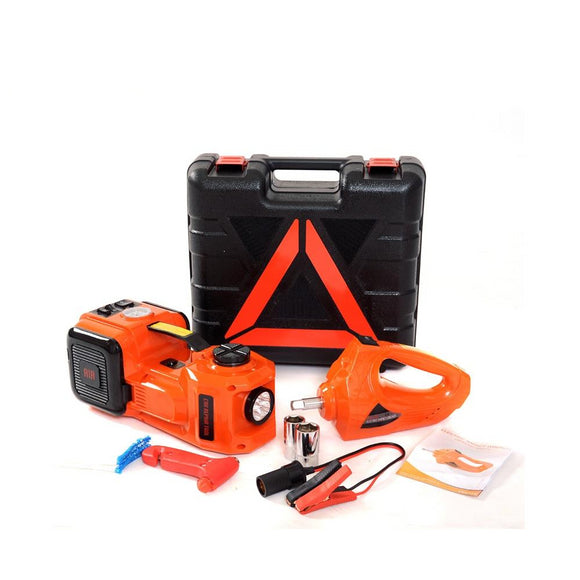 12V 5Ton Car Jack Electric Hydraulic Jack Portable Emergency Kit