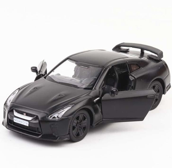 High imitation 1:36 scale alloy model car matte Nissan GTR pull back retro car toy 2 open door toy vehicle free shipping
