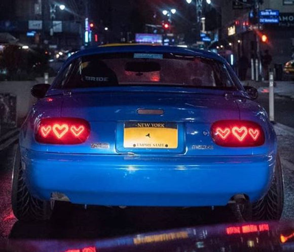 Custom Mazda Miata/ MX5 / Roadster  Dancing Tail Lights - Hearts