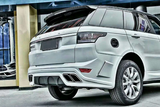 Range Rover Sports Rear Bumper Lip Diffuser With Exhaust Muffler Tips for RRS 2014 2015 2016 - PP Material Body Kits