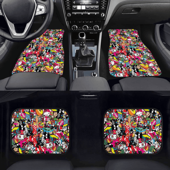 Custom JDM Sticker Bomb  Floor Mats