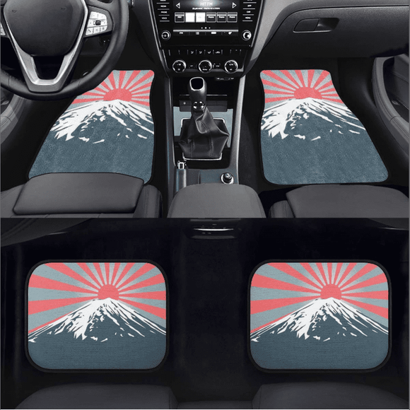Mount Fuji + Japanese Sunrise  Floor Mats