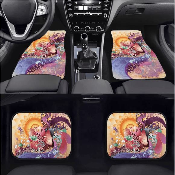 Custom Koi Fish  Floor Mats