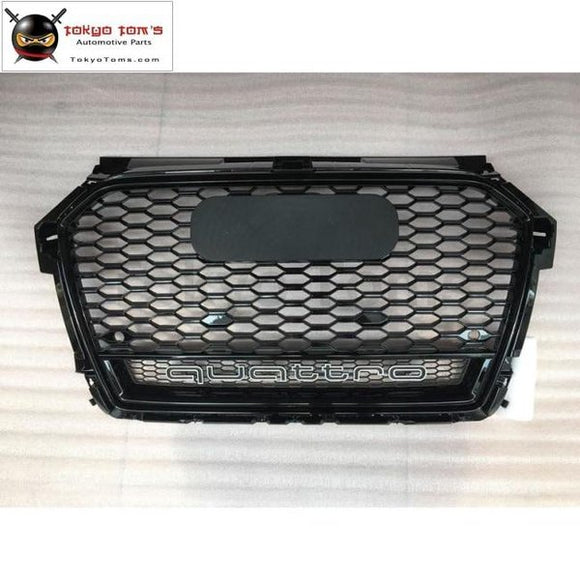 A1 Rs1 All Black Racing Grills Abs Honeycomb Grill Grille For Audi S1 Front Bumper 2016-2017