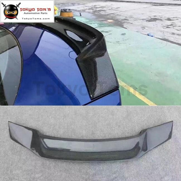 A3 S3 Carbon Fiber Rear Spoiler Trunk Lip Wings For Audi Renntech Style 13-15